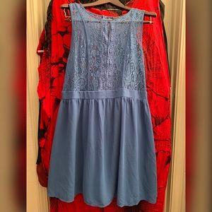 Lace chiffon short dress